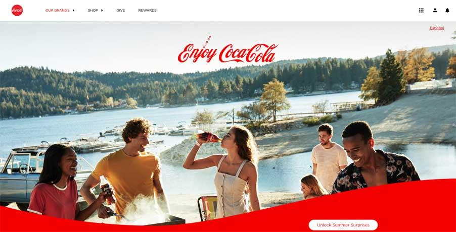 رنگ شرکت کوکاکولا
